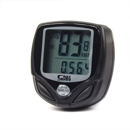 WATERPROOF WIRELESS LCD BIKE BICYCLE CYCLE COMPUTER SPEEDOMETER SPEEDO & MOUNT